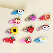 10pcs Toddler Girls Sequin Fruit Decor Hair Clip