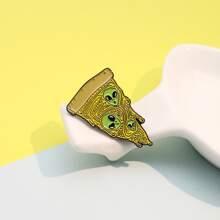 Broche con diseño de pizza y extraterrestre para niños