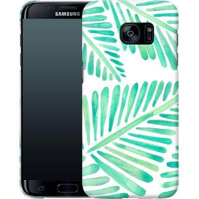 Samsung Galaxy S7 Edge Smartphone Huelle - Banana Leaves Seafoam von Cat Coquillette