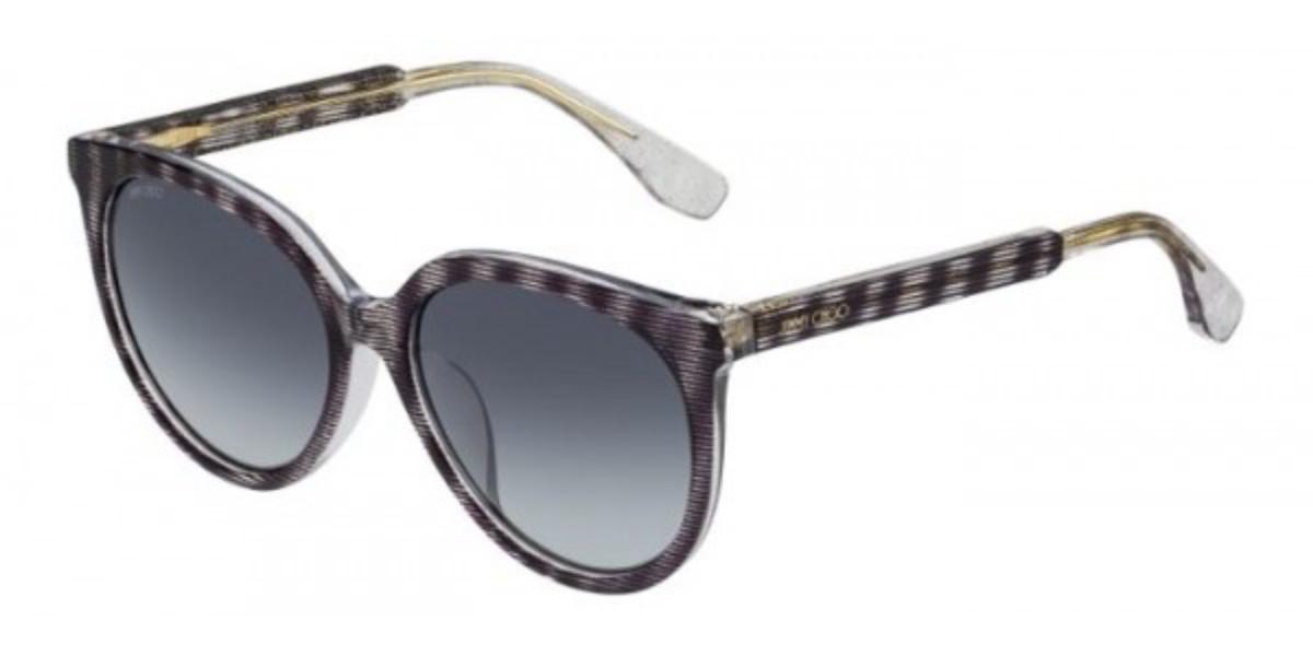Jimmy Choo Reece/F/S Asian Fit LWZ/HD Women's Sunglasses Brown Size 56