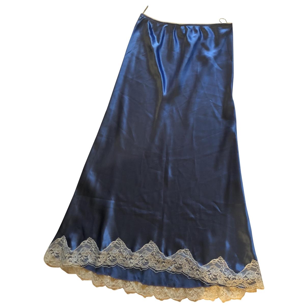 Pinko - Jupe   pour femme en soie - bleu