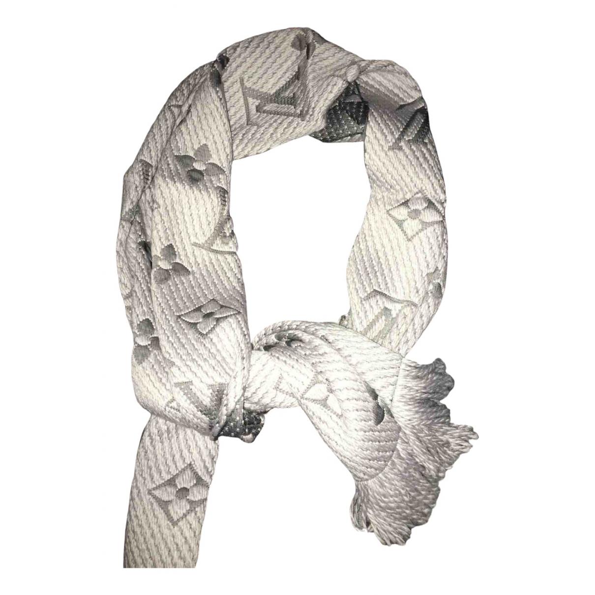 Louis Vuitton Logomania Schal in  Grau Wolle