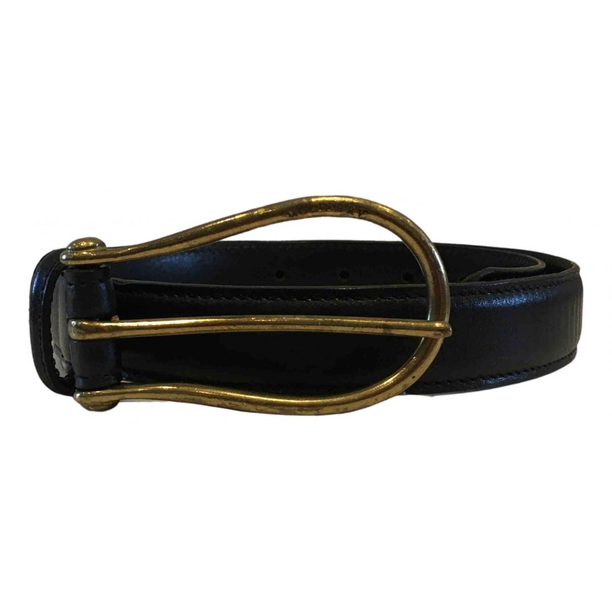 Mulberry \N Black Leather belt for Women 70 cm
