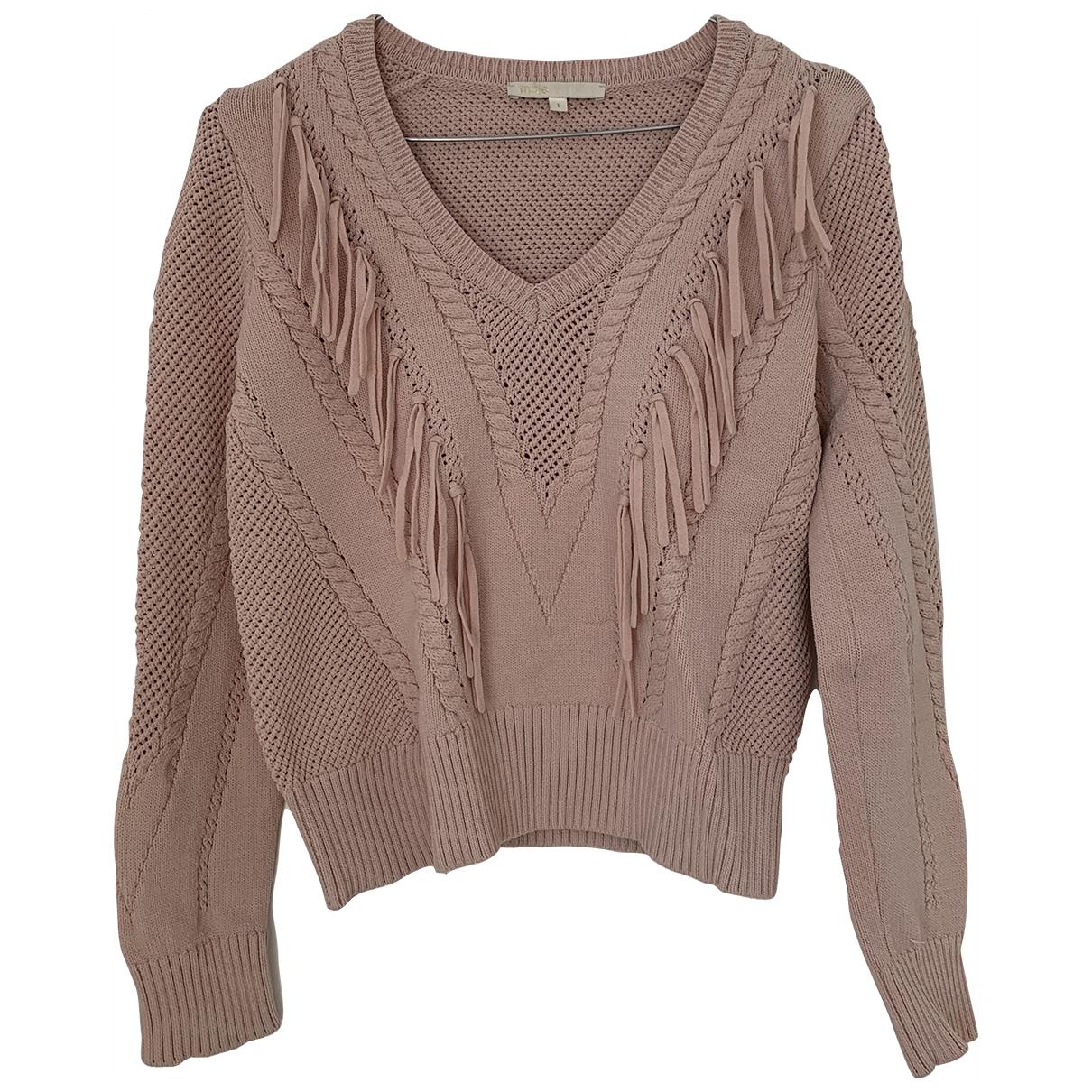 Maje - Pull   pour femme en laine - rose