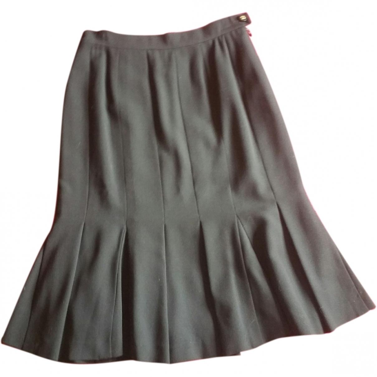 Chanel \N Black Wool skirt for Women 38 FR