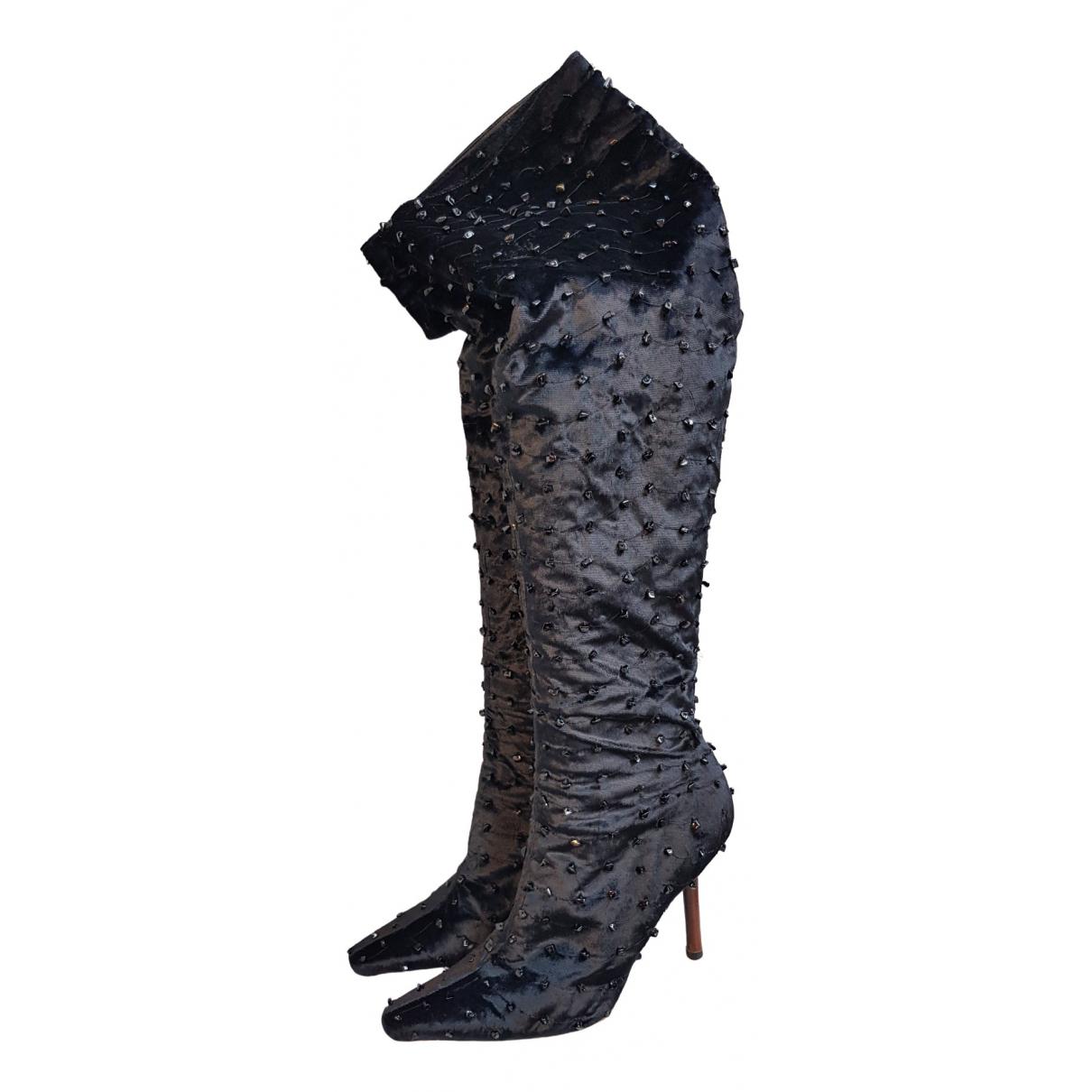 Gucci \N Black Velvet Boots for Women 40 EU