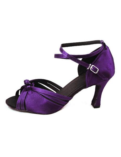Milanoo Zapatos morados de bailes latinos con tiras cruzadas de estilo sexy