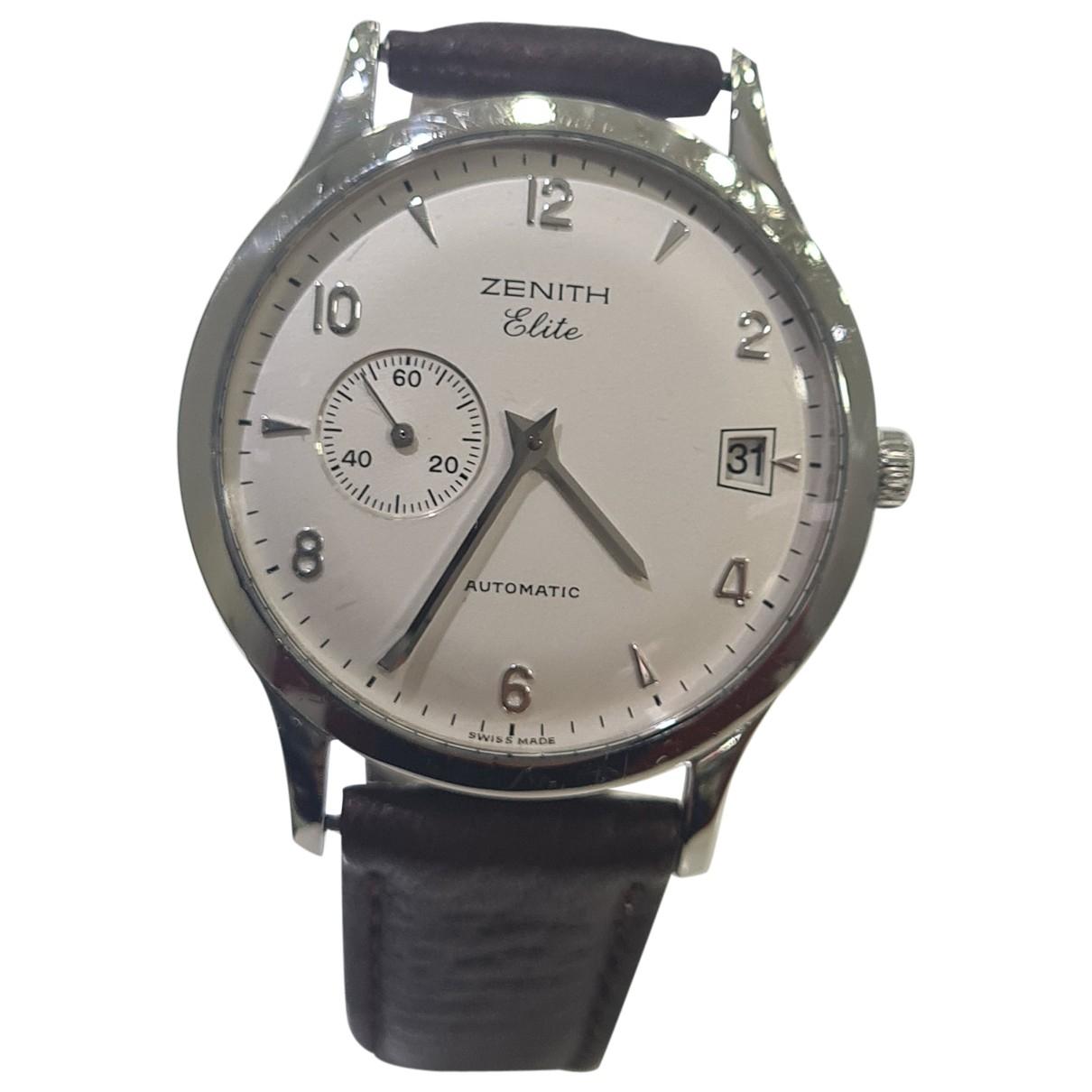 Zenith Elite  Uhr in  Weiss Stahl