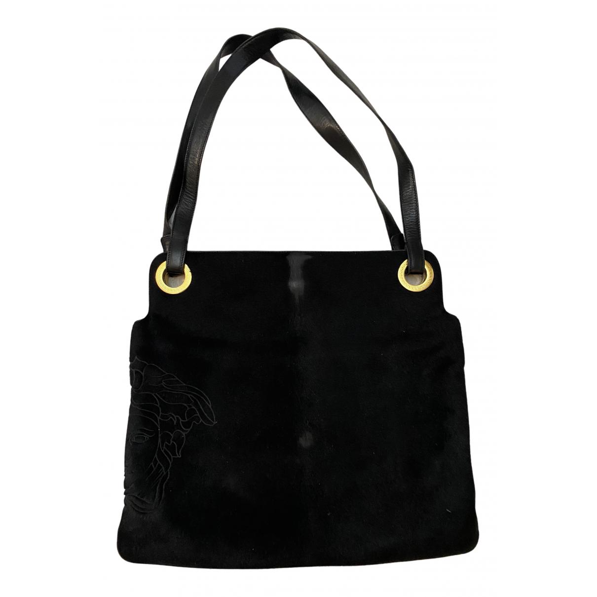 Gianni Versace N Black Pony-style calfskin handbag for Women N