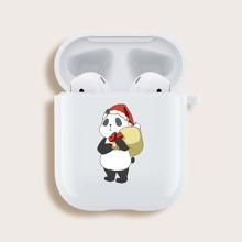 Funda de airpods con panda de navidad