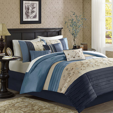 Madison Park Belle 7-pc. Comforter Set, One Size , Blue