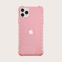 1pc Glitter Clear iPhone Case