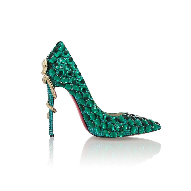 Ericdress Stiletto Heel Rhinestone Pointed Toe 10.5cm Thin Shoes