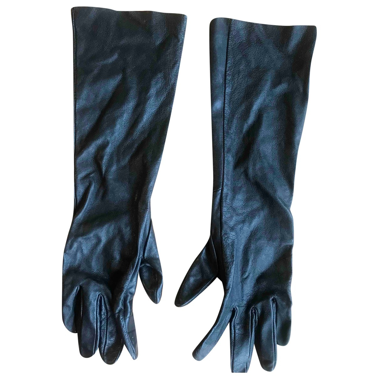 Cos \N Handschuhe in  Schwarz Leder