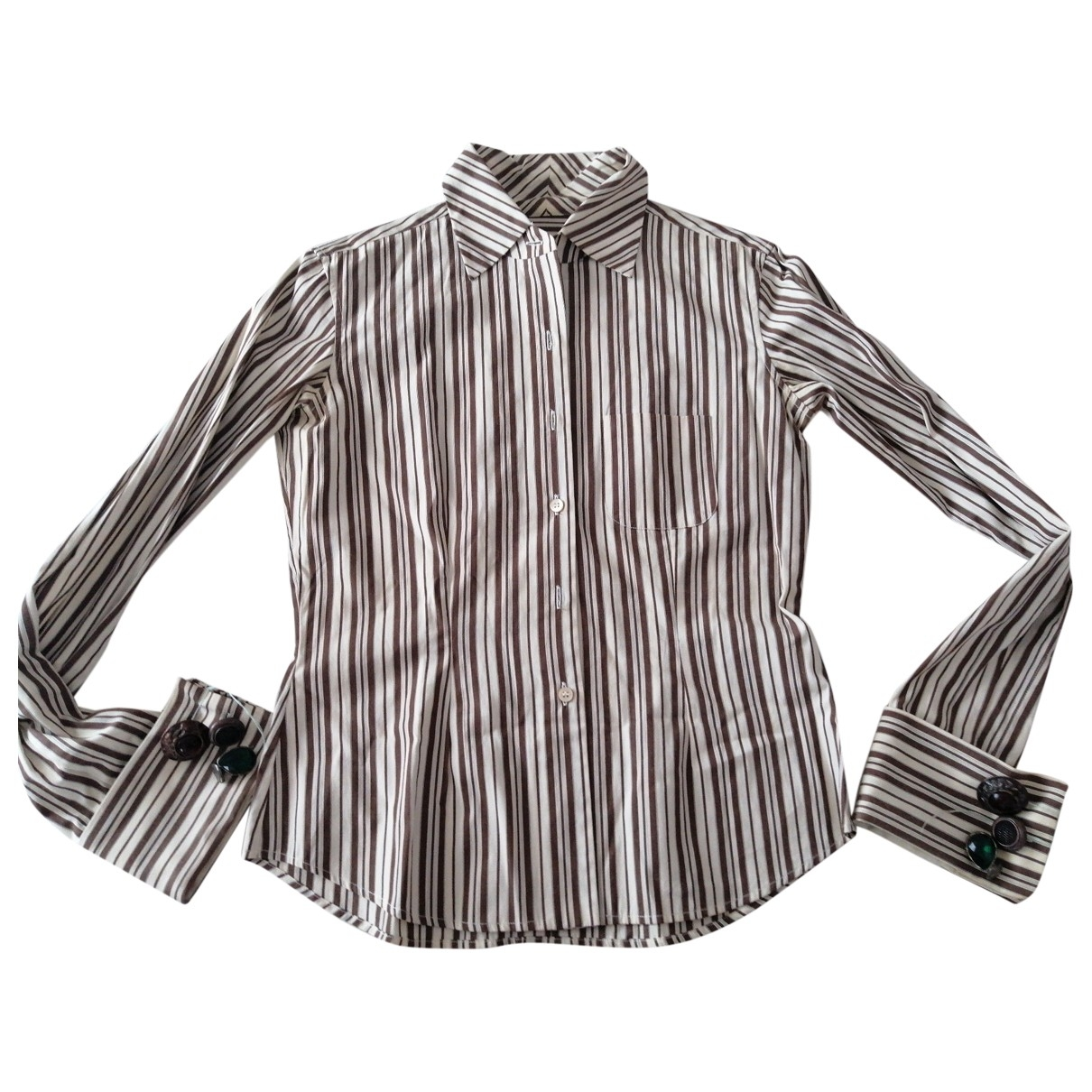 Romeo Gigli - Top   pour femme en coton - blanc