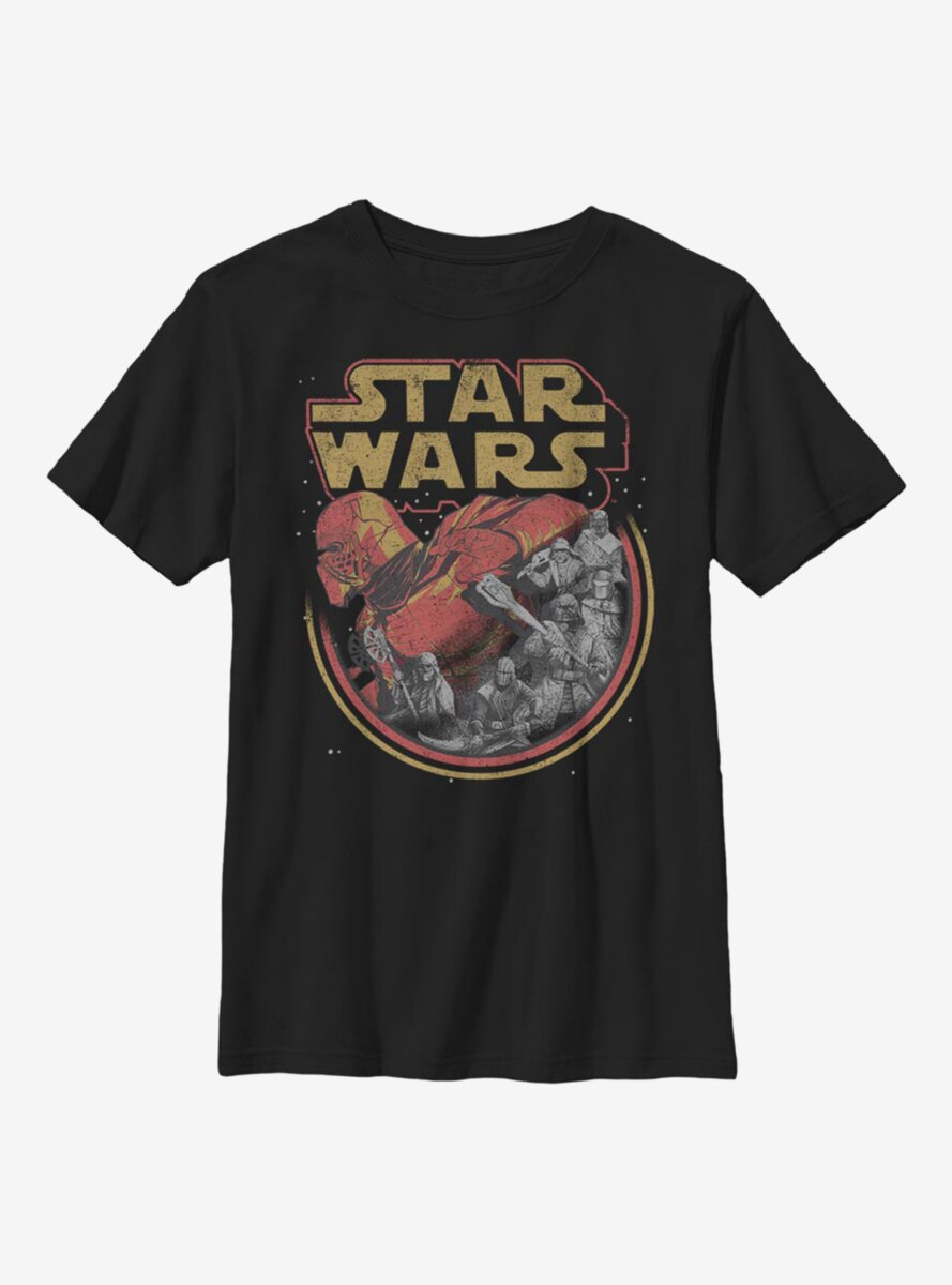 Star Wars Episode IX The Rise Of Skywalker Retro Villains Youth T-Shirt