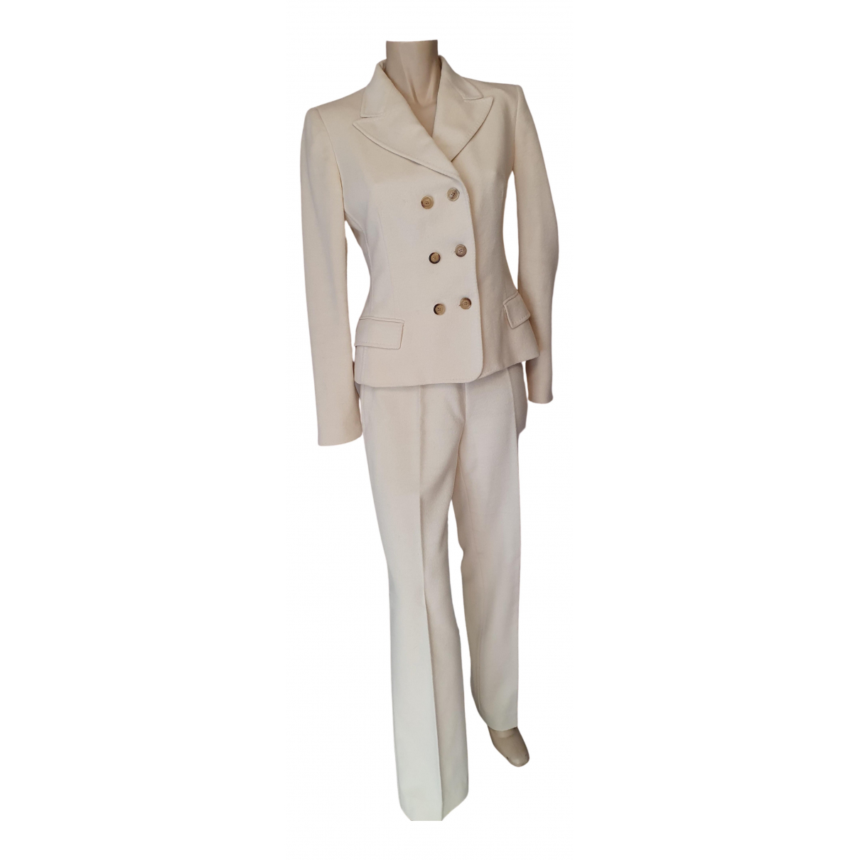 Carolina Herrera \N Kleid in  Weiss Wolle