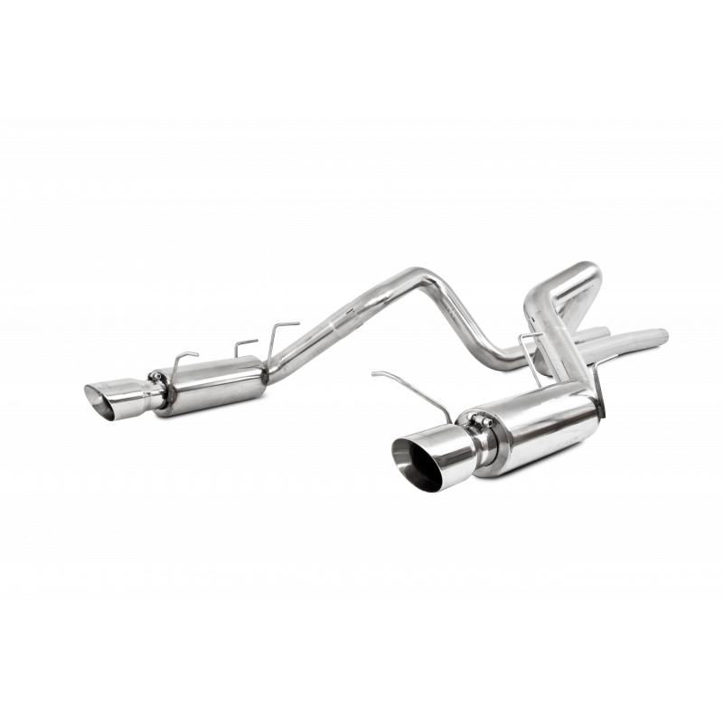 MBRP S7260304 3 Inch Cat Back Exhaust System For 11-12 Ford Shelby GT500 Dual Split Rear Race Version 4.5 Inch Tips T304 Stainless Steel