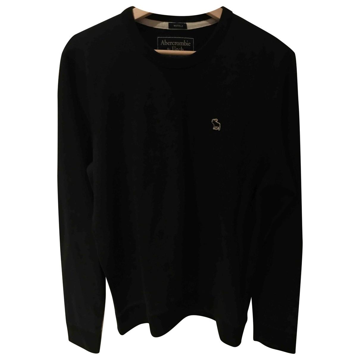 Abercrombie & Fitch - Pulls.Gilets.Sweats   pour homme en coton - noir