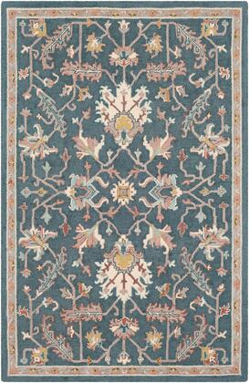 Joli JOI-1011 5 x 76 Rectangle Traditional Rug in Teal  Taupe  Beige  Camel  Olive  Sea