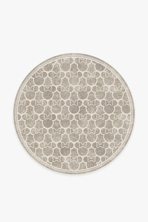 Washable Rug Cover & Pad | Minnie Trellis Ash Grey Rug | Stain-Resistant | Ruggable | 6' Round
