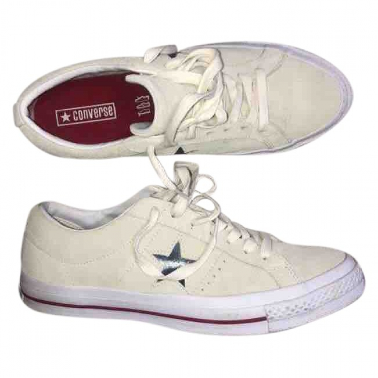 Converse \N Sneakers in  Weiss Veloursleder