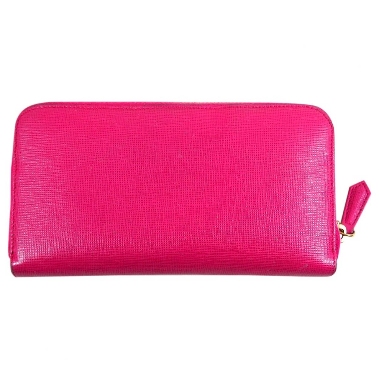 Fendi \N Pink Leather wallet for Women \N