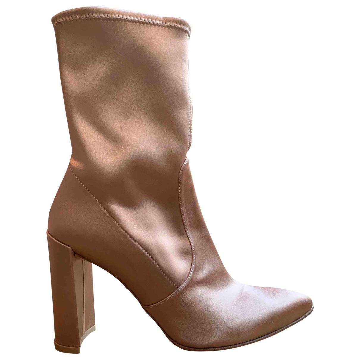 Stuart Weitzman \N Stiefel in  Rosa Kunststoff