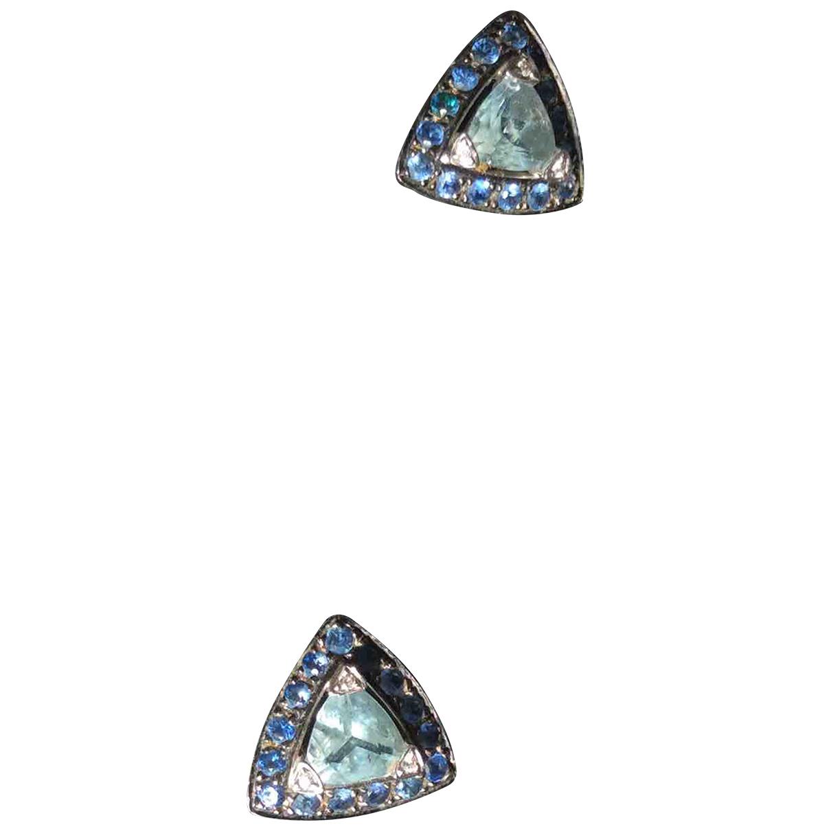 Mauboussin - Boucles doreilles   pour femme en or blanc - bleu