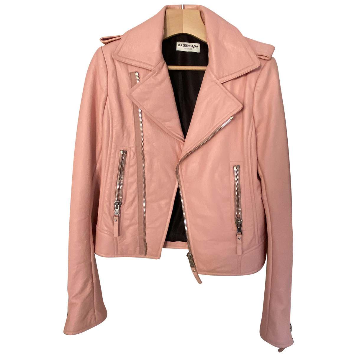 Balenciaga N Pink Leather Leather jacket for Women 38 FR