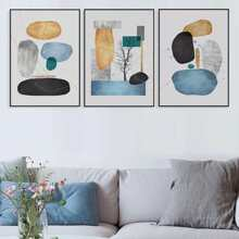 3pcs Abstract Pattern Wall Painting Without Frame
