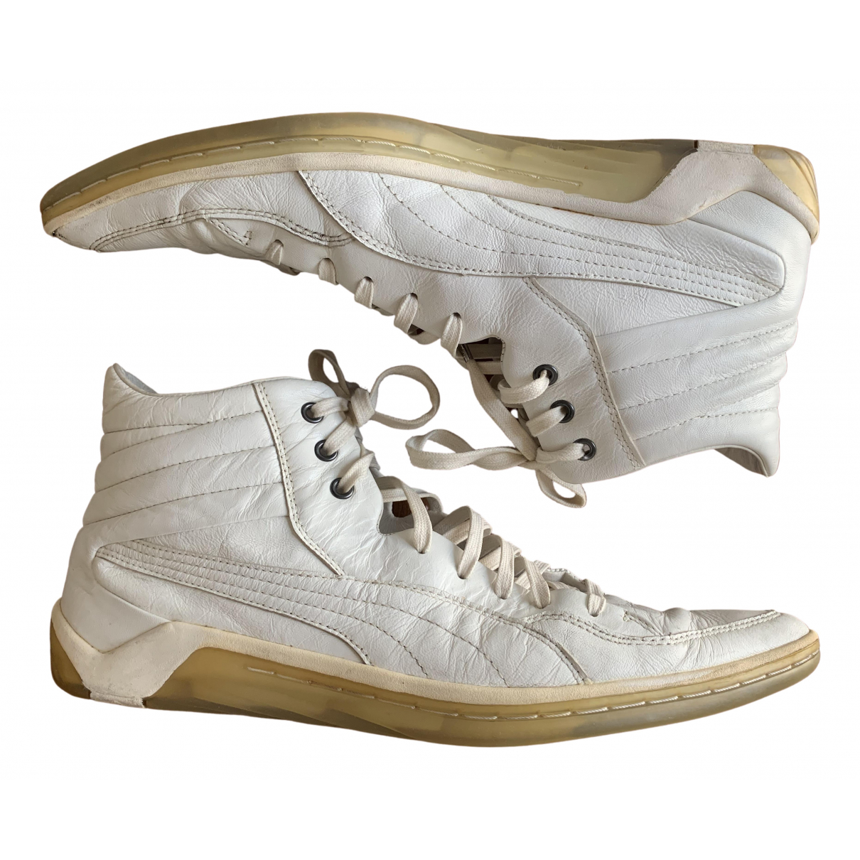 Alexander Mcqueen For Puma \N White Leather Trainers for Men 44 EU