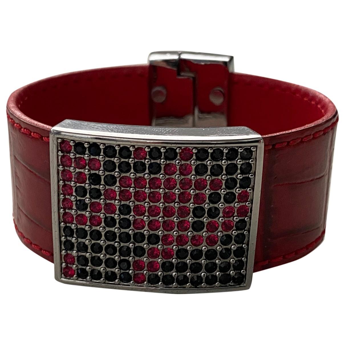 Swarovski Slake Red Leather bracelet for Women \N