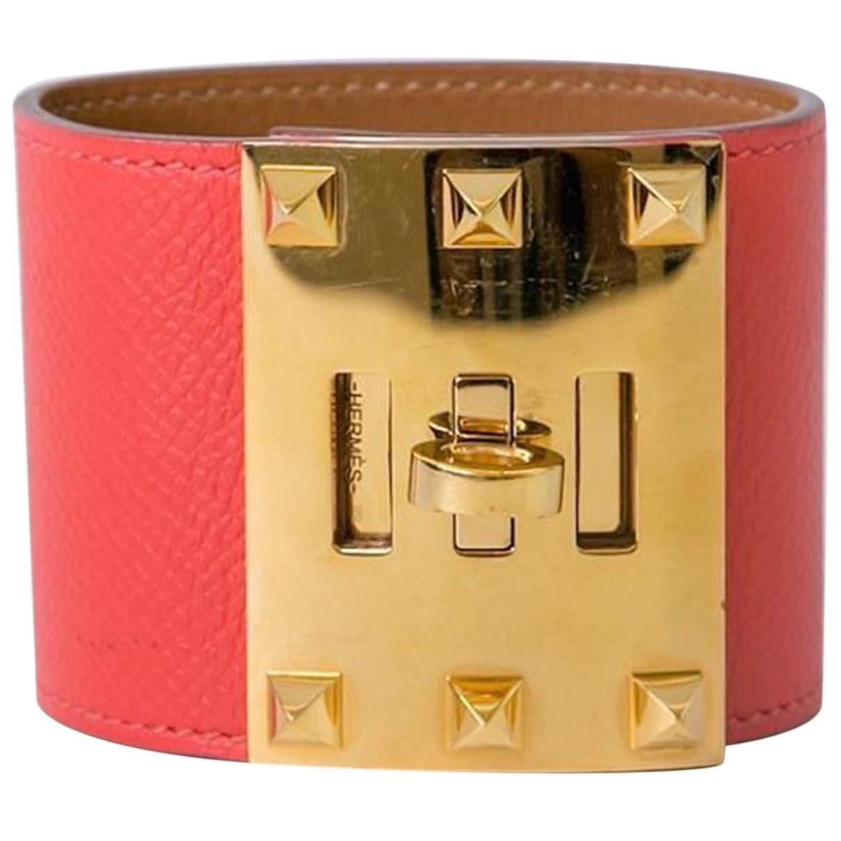 Hermes - Bracelet   pour femme en cuir - orange
