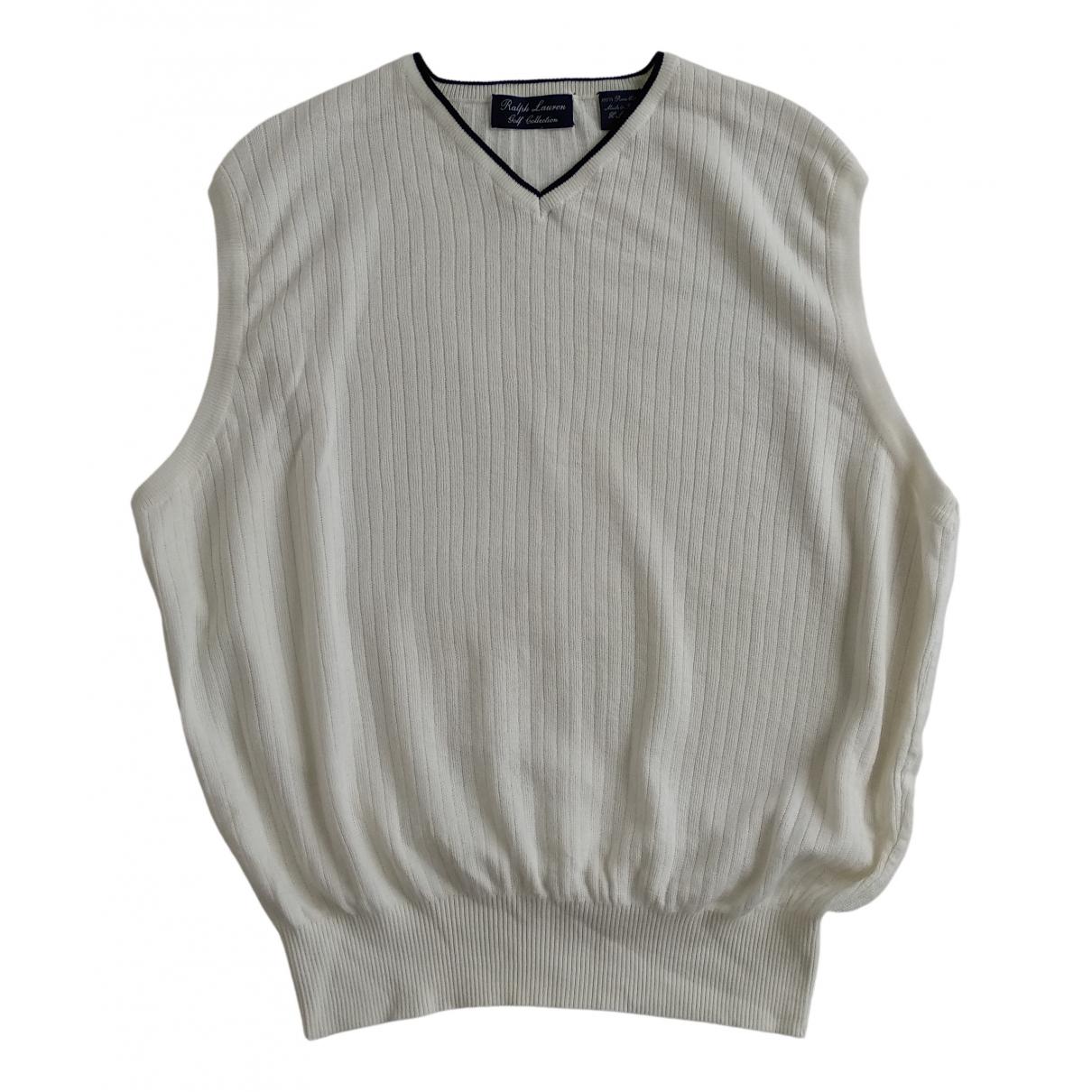 Ralph Lauren - Pulls.Gilets.Sweats   pour homme en coton - blanc