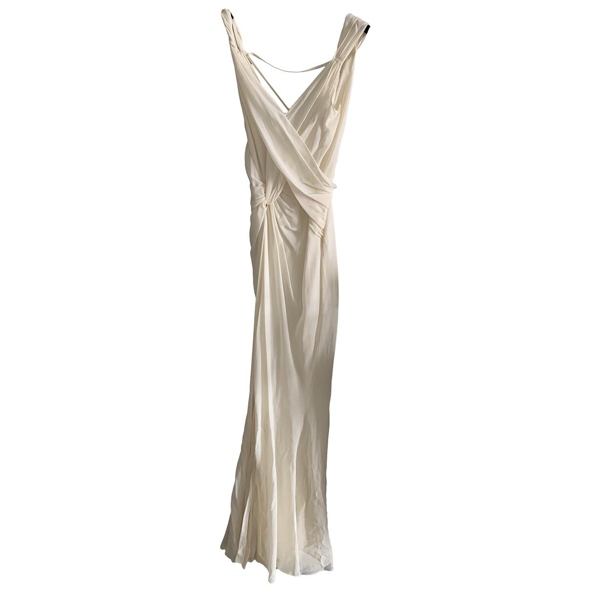 John Galliano \N Ecru Silk dress for Women 42 FR