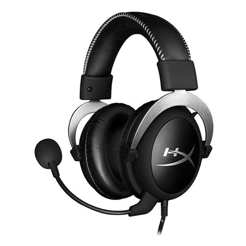 Kingston HyperX Cloud Silver Gaming Headset with Mic 53 Driver 3.5mm Jack - Black + Gray