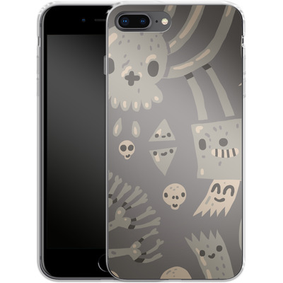 Apple iPhone 8 Plus Silikon Handyhuelle - Cartoon Bones von caseable Designs