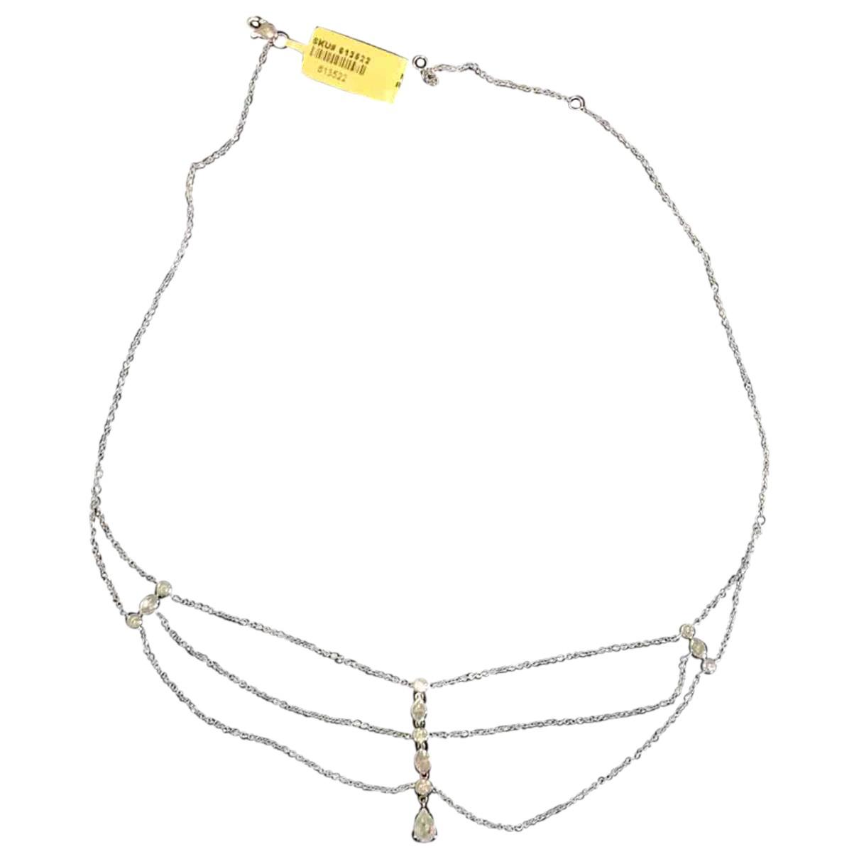 - Collier   pour femme en or blanc - argente
