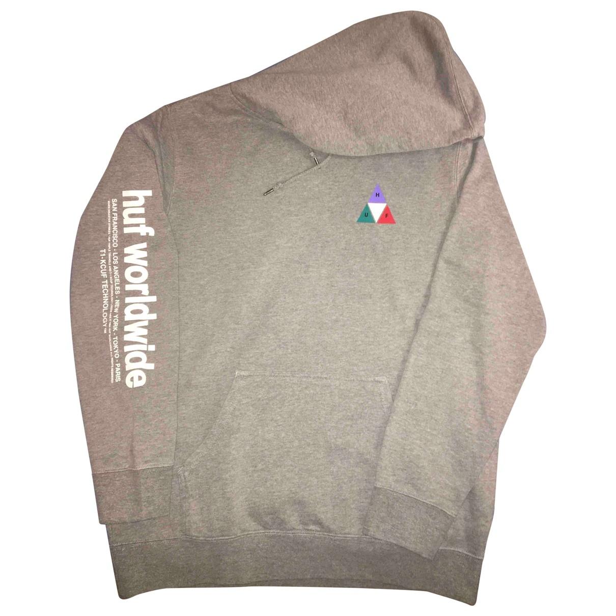 Huf \N Pullover.Westen.Sweatshirts  in  Grau Baumwolle