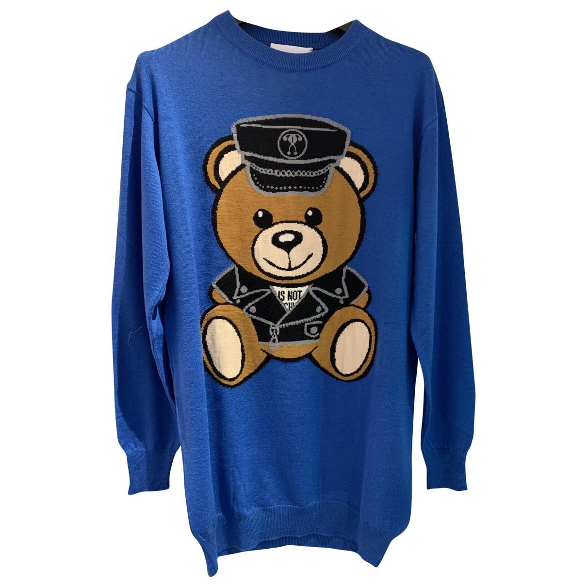 Moschino \N Kleid in  Blau Wolle