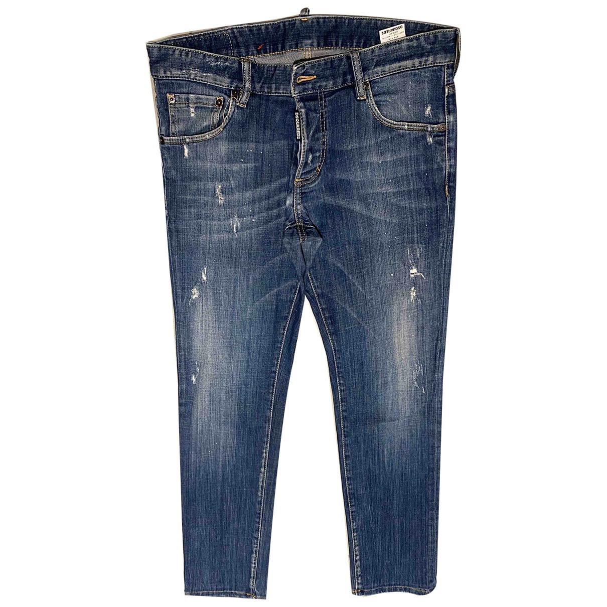 Dsquared2 \N Blue Cotton Jeans for Men 44 FR