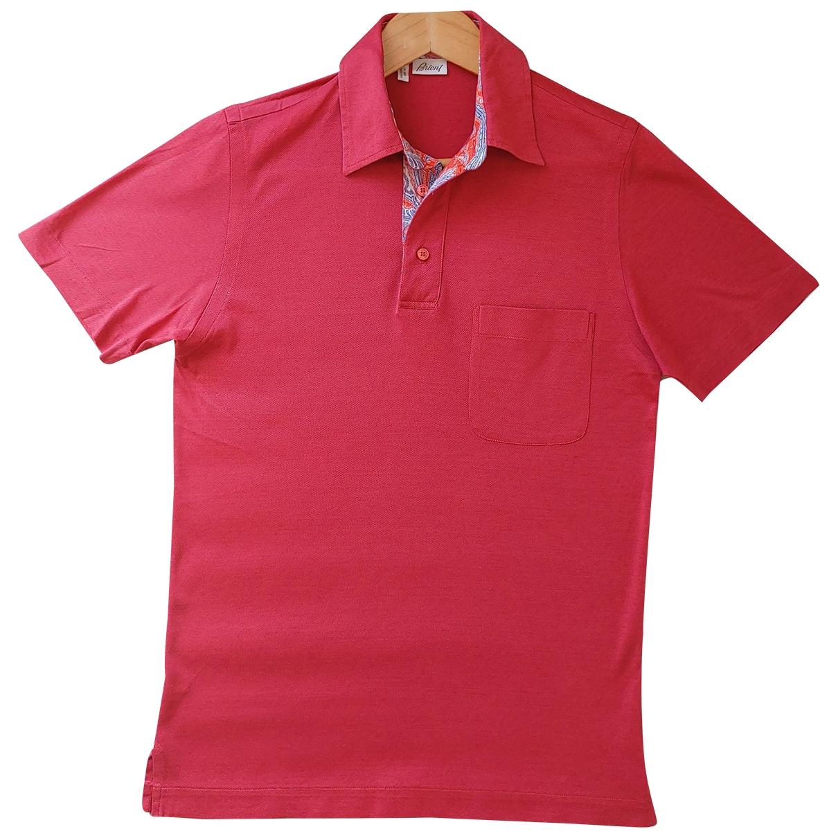 Brioni \N Poloshirts in  Rosa Baumwolle