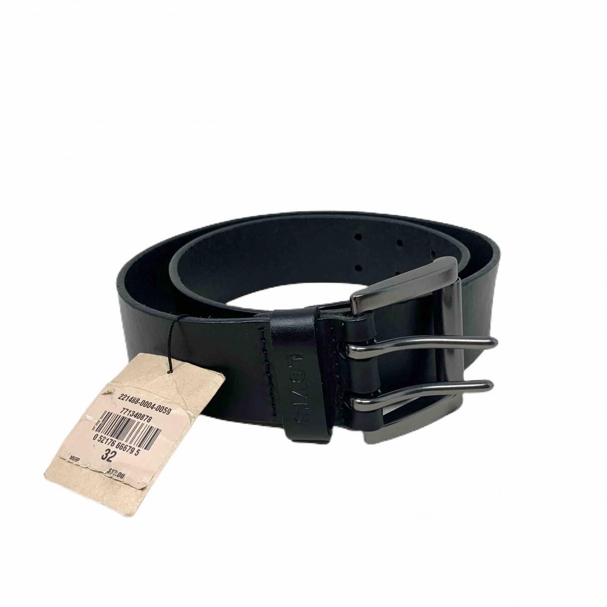 Levi's \N Black Leather belt for Men 80 cm