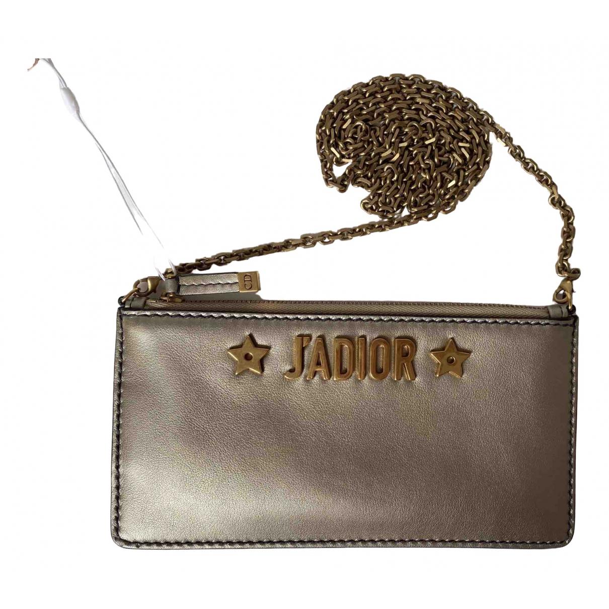 Dior Jadior Clutch in  Gold Leder