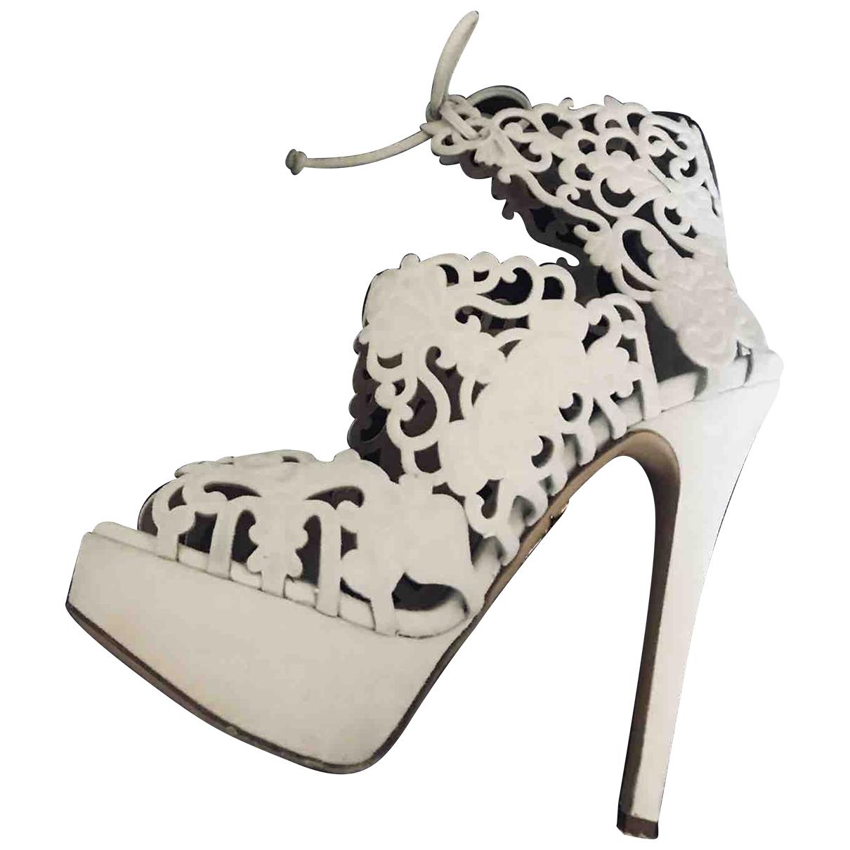Charlotte Olympia - Escarpins   pour femme en cuir - blanc