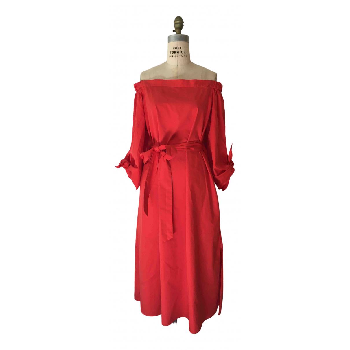 Tibi \N Red Cotton dress for Women 10 UK