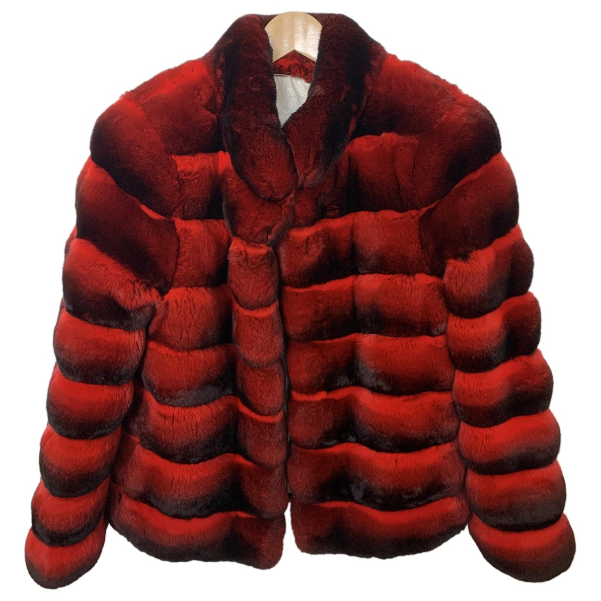 Non Signé / Unsigned \N Red Chinchilla jacket for Women 40 FR
