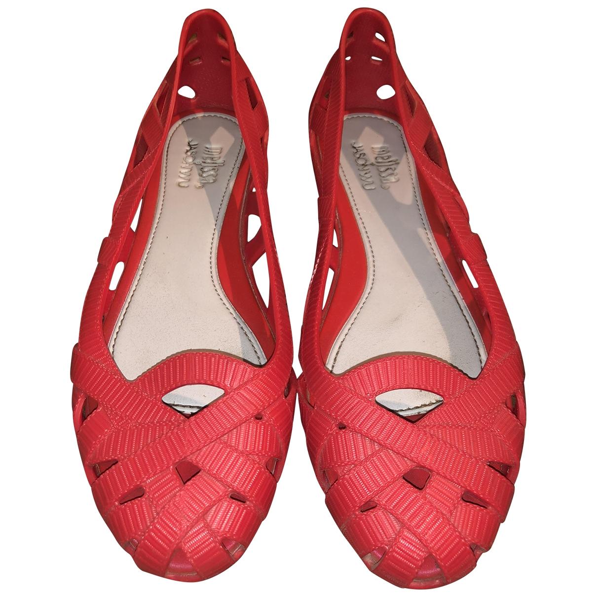 Melissa - Ballerines   pour femme en caoutchouc - rouge