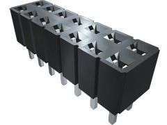 Samtec , SLW 2.54mm Pitch 40 Way 1 Row Vertical PCB Socket, Through Hole, Solder Termination (1000)